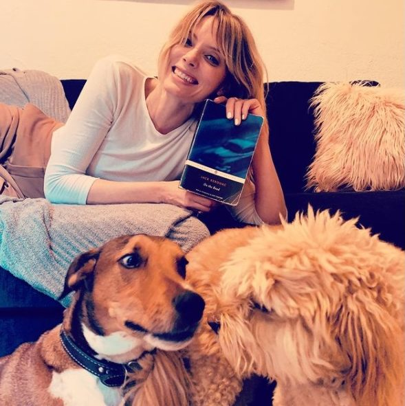 April Bowlby with her dogs on Instagram
