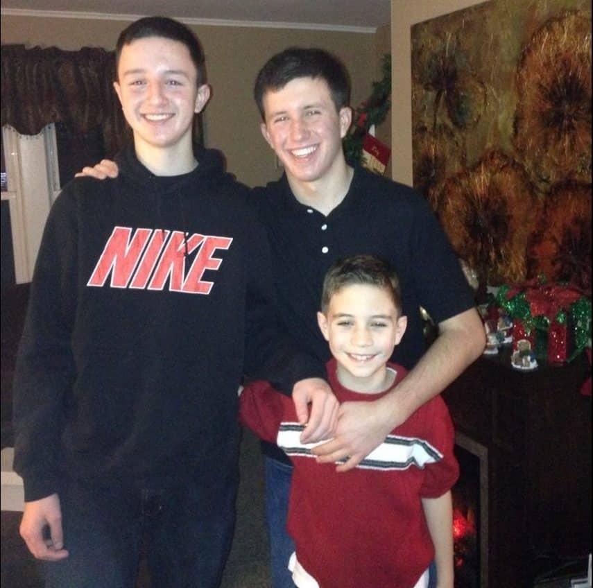 Three sons of Denise Lombardo