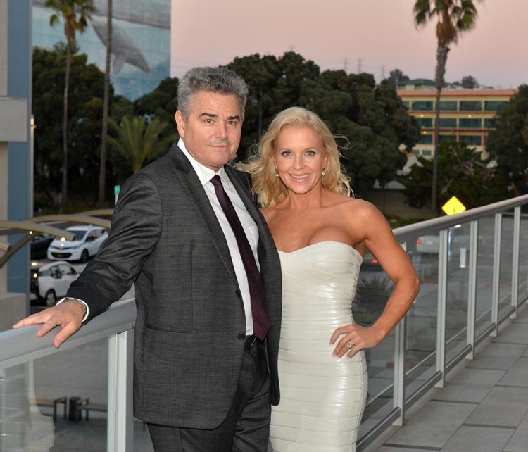 Cara Kokenes with husband Christopher Knight