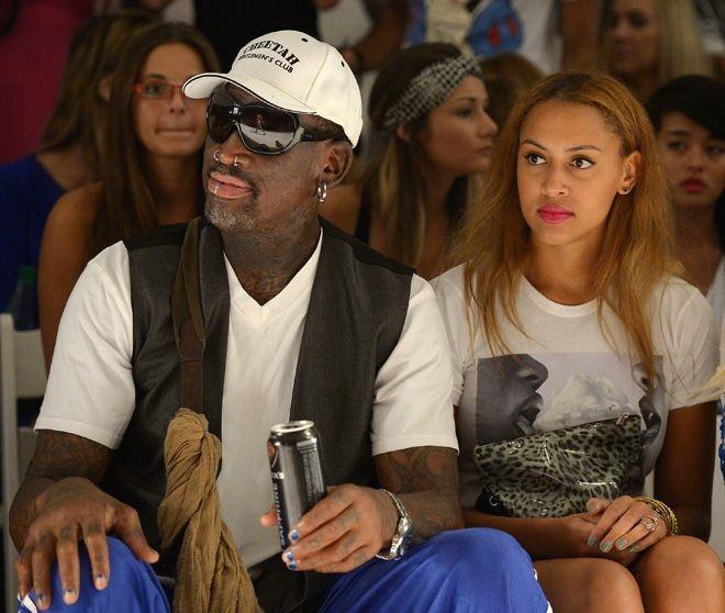 Dennis Rodman with daughter Alexis Rodman