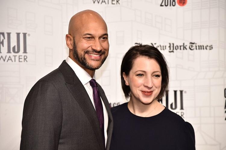 Elisa Pugliese with Keegan Michael Key
