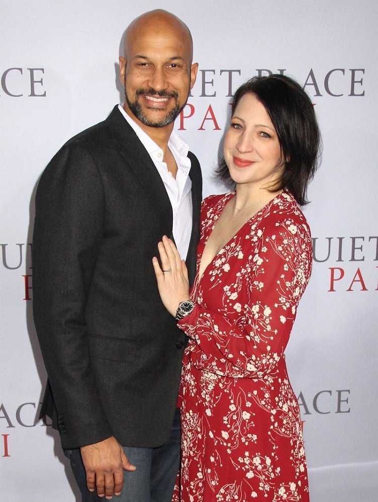 Elisa Pugliese with husband Keegan Michael Key