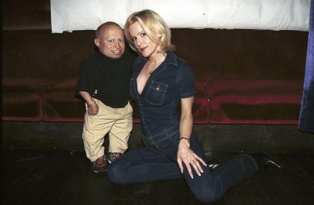 Genevieve Gallen with ex-husband Verne Troyer