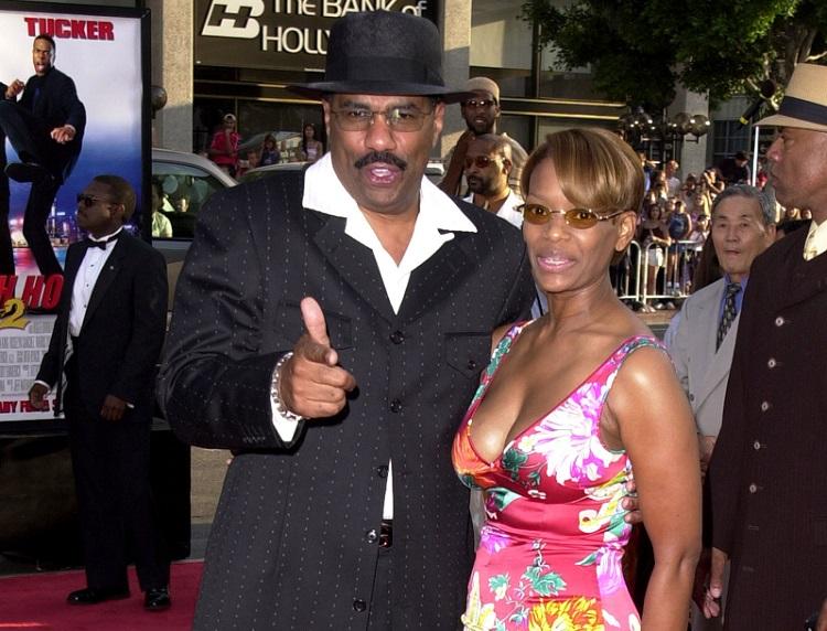 Steve Harvey with wife Mary