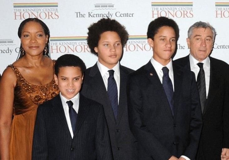 Aaron Kendrick De Niro and his family