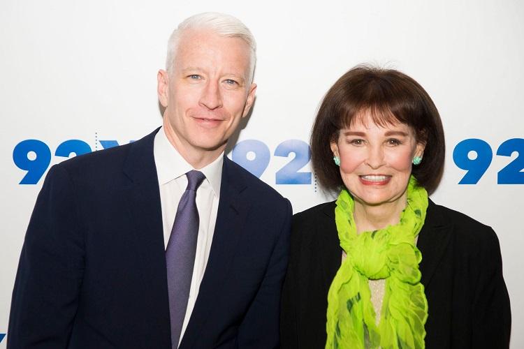 Christopher Stokowski's mother Gloria Vanderbilt and step-brother Anderson Cooper
