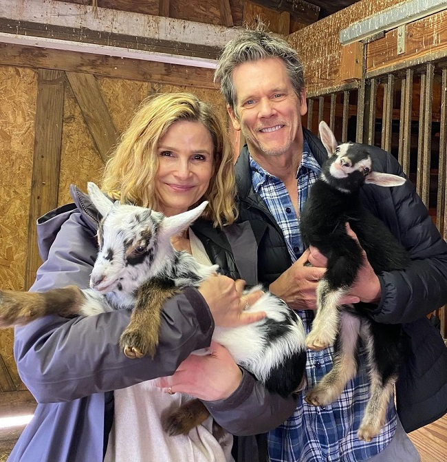 Kevin Bacon with his wife Kyra Sedgwick