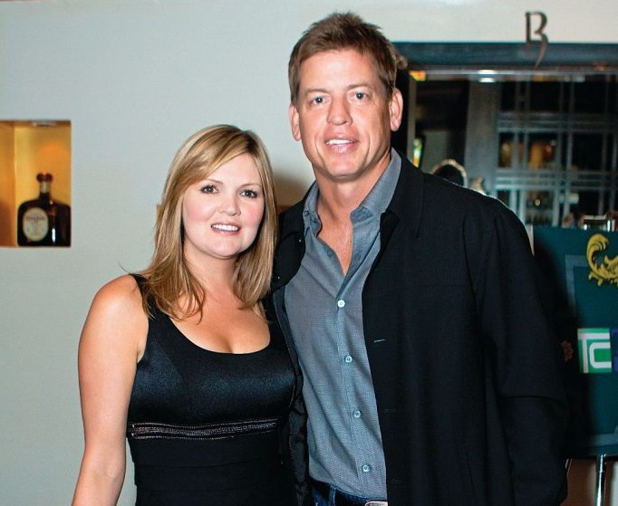Rhonda Worthey with husband Troy Aikman