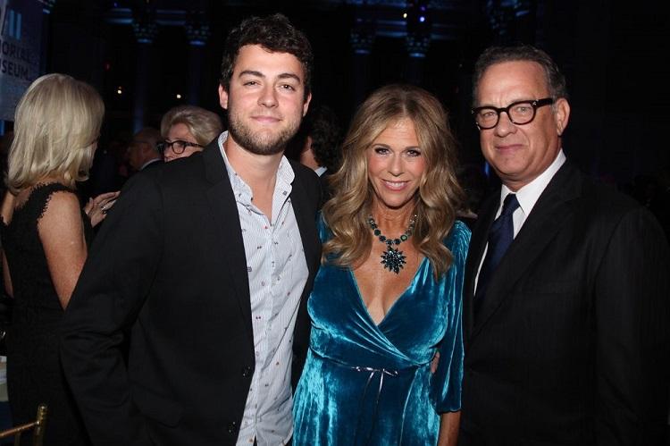 Truman Hanks with parents Tom Hanks and Rita Wilson