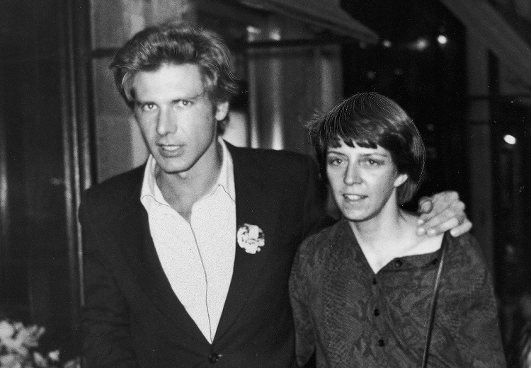 American actor Harrison Ford with wife, Mary Marquardt