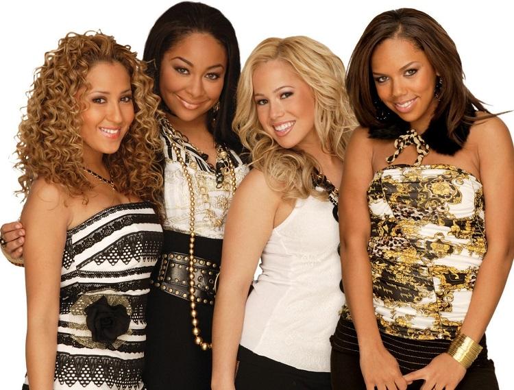Adrienne Bailon with the Cheetah Girls' co-stars