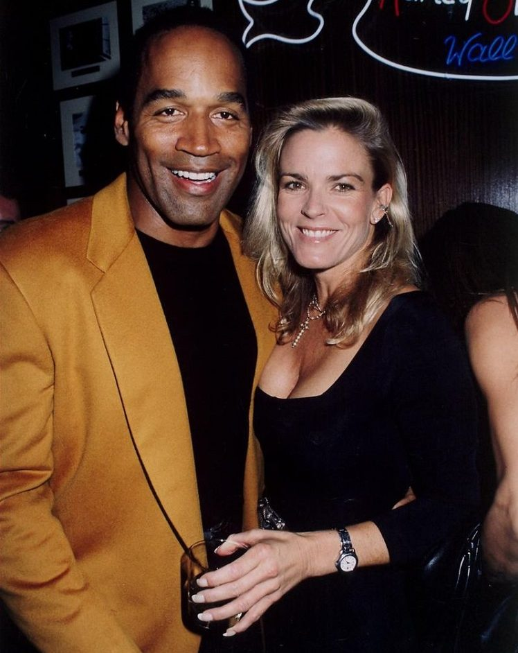 Nicole Brown Simpson with ex-husband O.J Simpson