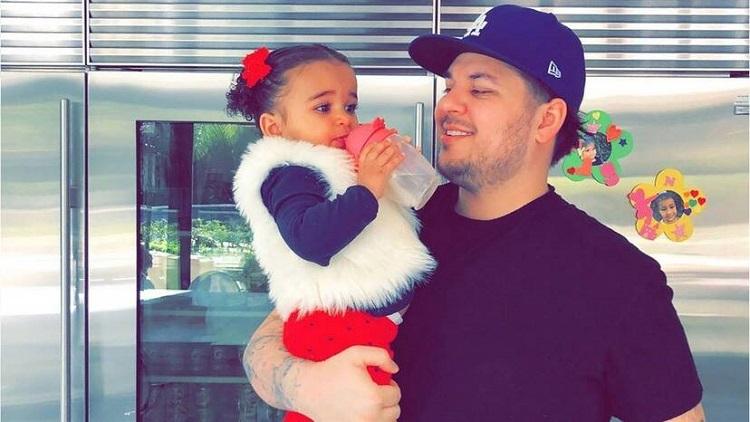 Rob Kardashian with his daughter, Dream Kardashian