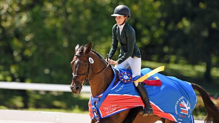 Savannah Blackstock riding a horse.