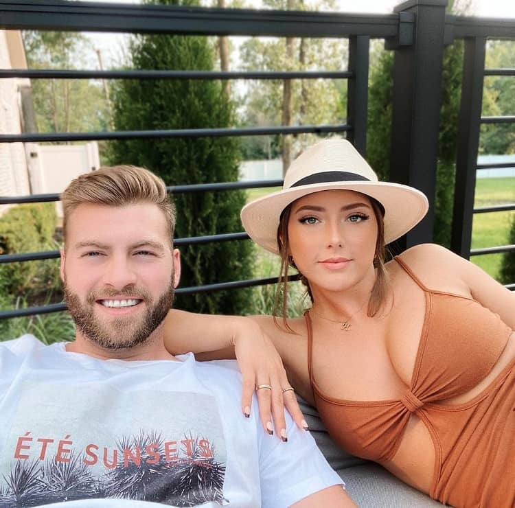 Hailie with boyfriend Evan McClintock
