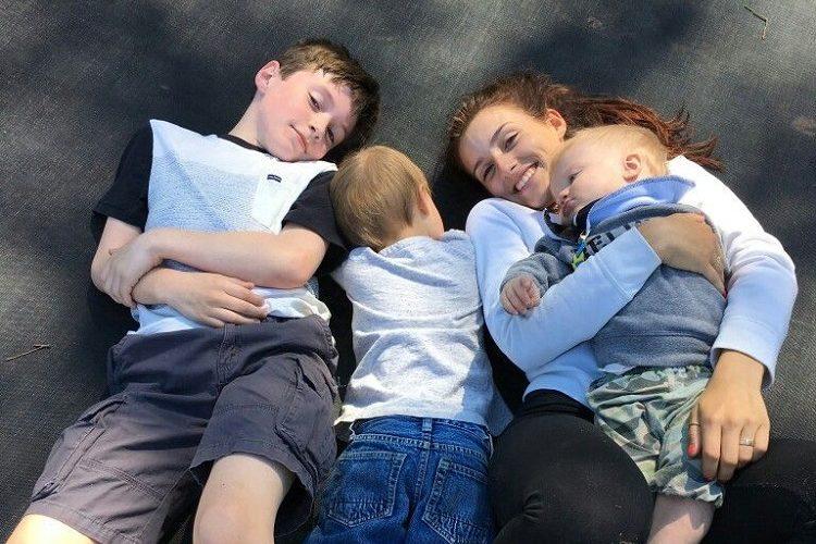 Seth Blackstock with his siblings