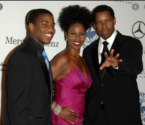Malcolm Washington with father Denzel Washington and mother Pauletta Washington