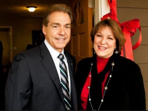 Nick Saban with his wife Terry Saban