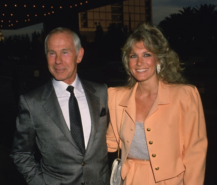 Alexis Maas with husband, Johnny Carson