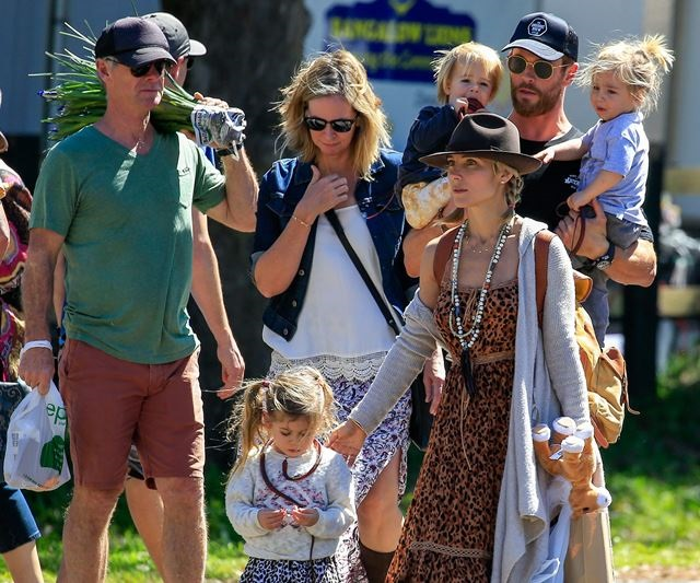 Tristan Hemsworth with family