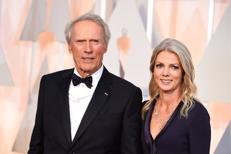 Clint Eastwood with current girlfriend Christina Sandera