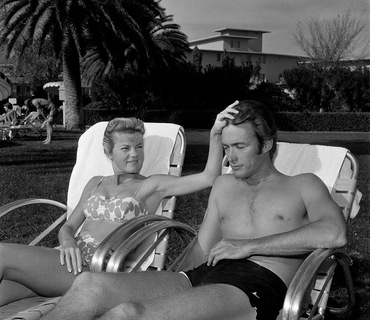Clint Eastwood with first wife Maggie Johnson