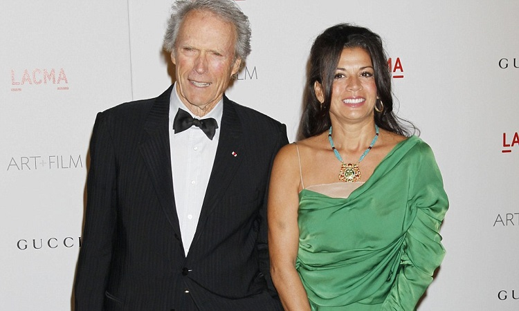 Clint Eastwood with second wife Dina Eastwood