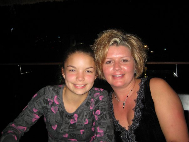 Daughter Chelsea with mother Shawna Blackstock
