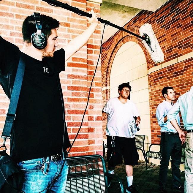 Sean Harmon in video shoot