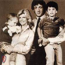 Seargeoh Stallone family photo with his dad, mom and brother Sage