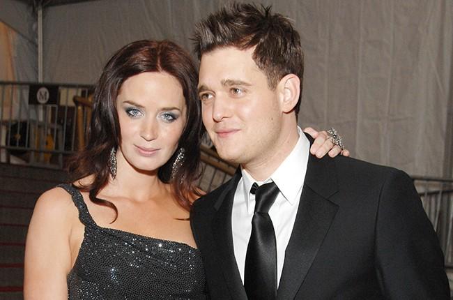 Emily Blunt with her ex-boyfriend Michael Buble