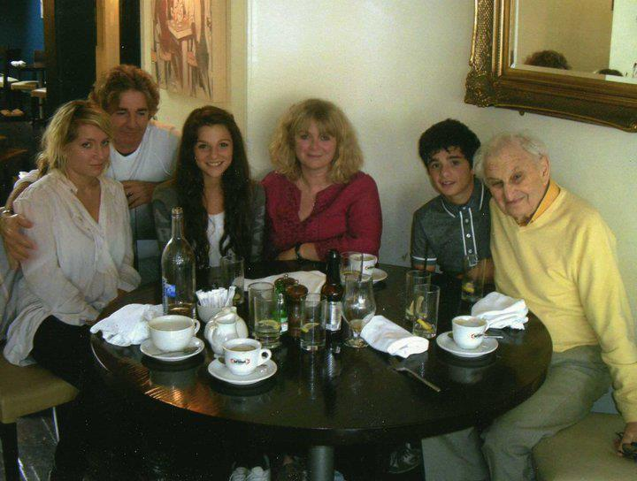 Marisa Abela family photo with her father, mother, brother and grand parents