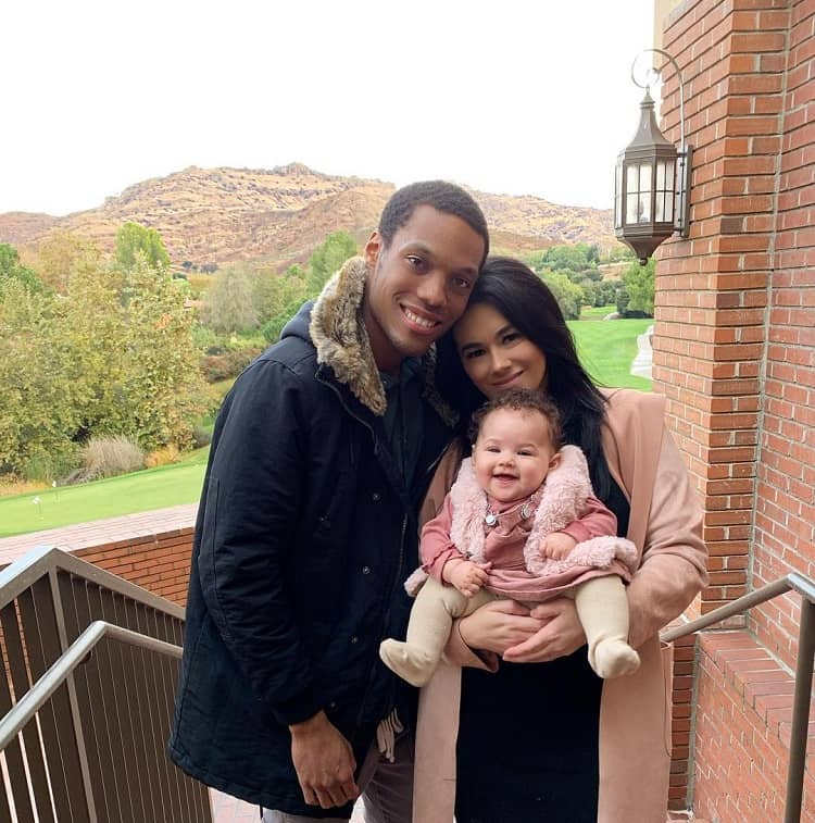 Miles with his wife Carly Olivia and daughter Evie Isla Murphy