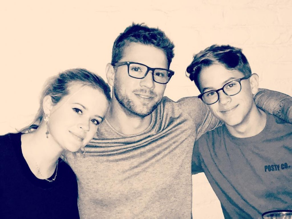 Ava and Deacon with their father Ryan Phillippe