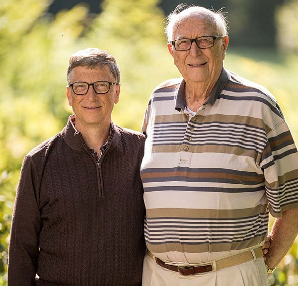 Bill gates with his father