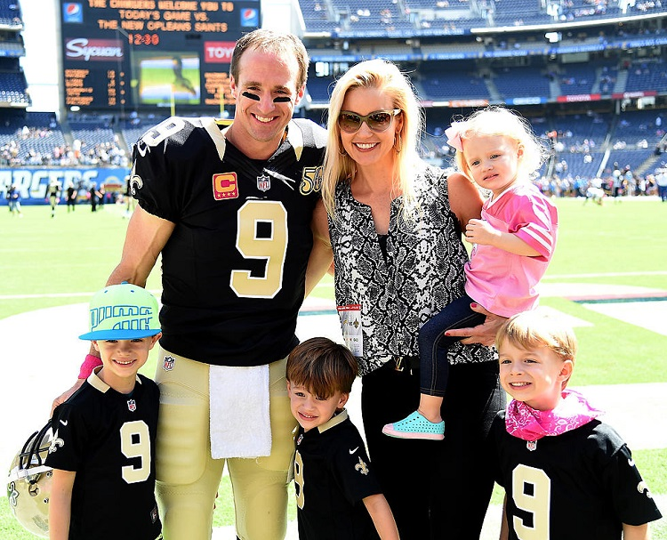 Brittany Brees with her family