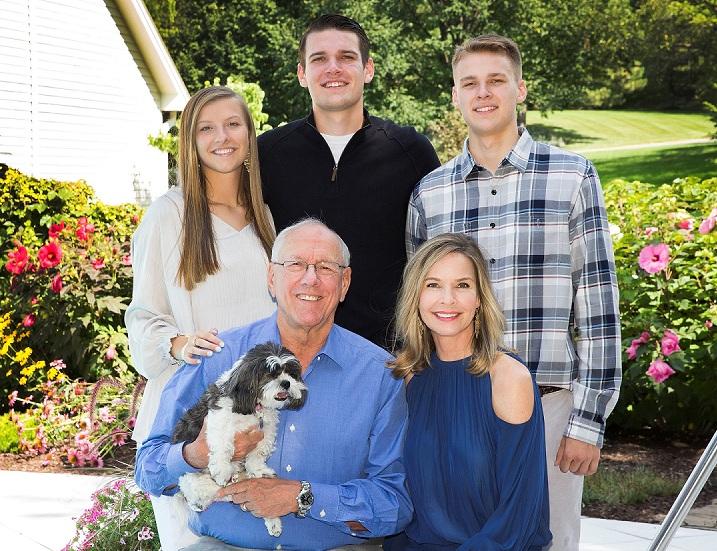 Jim and Juli Boeheim with their kids