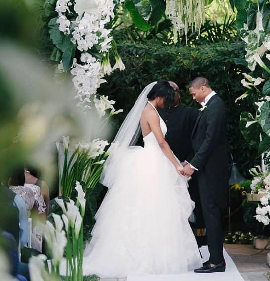 Nina Earl and Russell Westbrook wedding